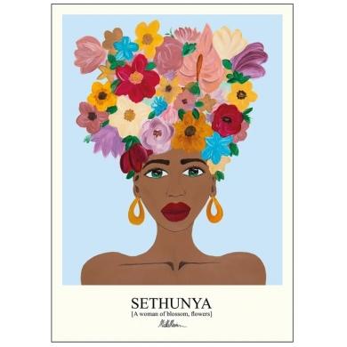 Poster & Frame | Sethunya Blue - Bolighuset Werenberg