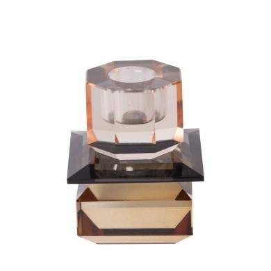 C'est Bon | Krystalstage, peach/røget grå/lysebrun - 8,5x7x7 cm - Bolighuset Werenberg