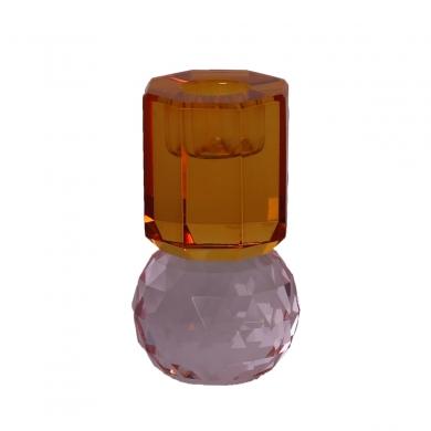 C'est Bon | Krystalstage pink/rav - 10,5x6x6 cm - Bolighuset Werenberg
