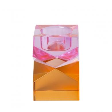 C'est Bon | Krystalstage, pink/amber- 8,5x6x6 cm - Bolighuset Werenberg