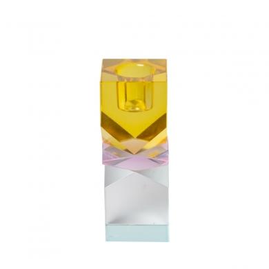 C'est Bon | Krystalstage - gul/pink/lys mint - 11x4 cm - Bolighuset Werenberg