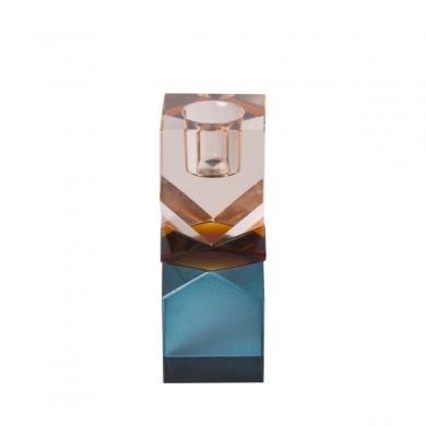 C'est Bon | Krystalstage - peach/amber/blå - 11x4 cm - Bolighuset Werenberg
