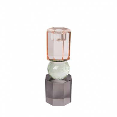 C'est Bon | Krystalstage - peach/mint/røget grå - 7,5x6 cm - Bolighuset Werenberg