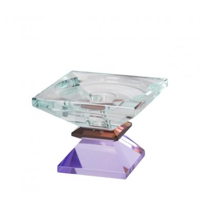 C'est Bon | Krystalstage, lys mint/mørkebrun/violet - 6,5x9x9 cm - Bolighuset Werenberg