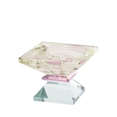 C'est Bon | Krystalstage, lysegul/pink/lys mint - 6,5x9x9 cm - Bolighuset Werenberg