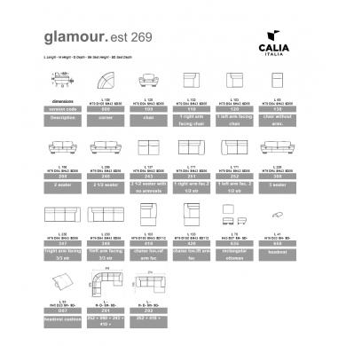 Calia | Glamour 2,5-pers. sofa - Bolighuset Werenberg
