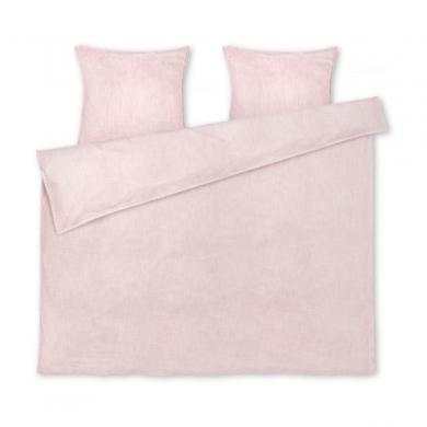 JUNA | Monochrome Sengetøj - Rosa/Hvid