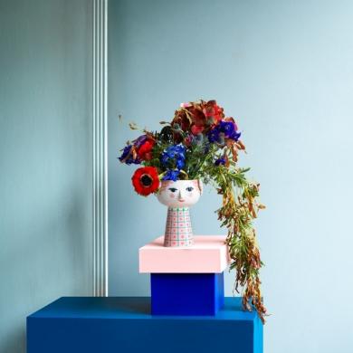 Bjørn Wiinblad | Eva Vase - Pink - 18,5 cm - Bolighuset Werenberg