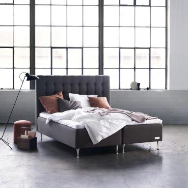 Carpe Diem Beds   Boxmadras dobbeltseng - Malö - Carpe Diem Beds   Sengeben - Oak Cylinder (13 cm)